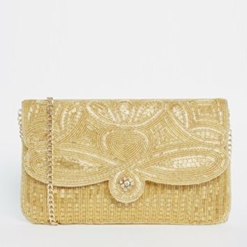 Dune Eazie Beaded Clutch Bag