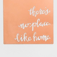 No Place Like Home Copper Wall Decor