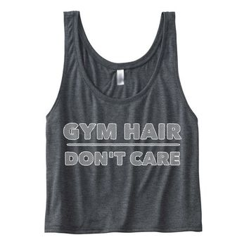 Gym Hair Don't Care Boxy Tank