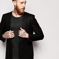 ASOS Slim Fit Collarless Blazer