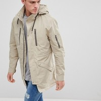 Only & Sons Hooded Parka at asos.com