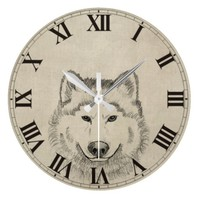 Wolf Power Wall Clocks