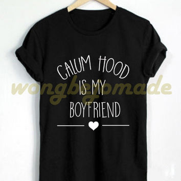 Calum Hood Shirt Black Grey Maroon and White Color Tshirt