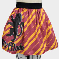 Gryffindor Inspired Full Skirt