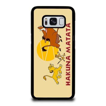 HAKUNA MATATA LION KING Disney Samsung Galaxy S8 Case Cover