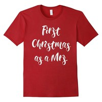 First Christmas as a Mrs. - Newlywed Christmas Shirt