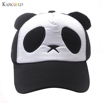 Trendy Winter Jacket 2017 Lovely Panda Print Solid Unisex Peaked Hat Snapback Baseball Cap Adjustable Hats Casquette Vintage Hats For Kids F273 AT_92_12