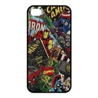 Treasure Design Marvel Comics Avengers Collection Apple iPhone 4/4S Best Silicone Cover Case