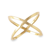 X Ring, 14K Yellow Gold, Stone & Novelty Rings