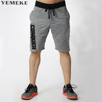 Summer men new shorts Calf-Length Fitness Bodybuilding fashion Casual gyms Joggers workout short pants Sweatpants