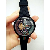 GUCCI Ladies Men Watch Little Ltaly Stylish Watch F-PS-XSDZBSH Black