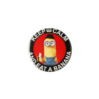 Despicable Me Minion Keep Calm Eat Banana Pin