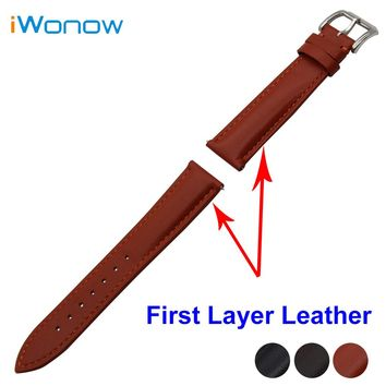 First Layer Genuine Leather Watch Band 18mm 20mm 22mm for Fossil Stainless Buckle Strap Quick Release Wrist Belt Bracelet