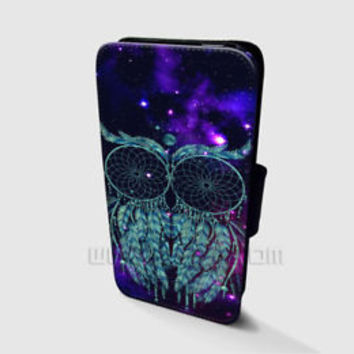 Dream catcher Wallet iPhone cases Owl Nebula Samsung Wallet Leather Phone Case