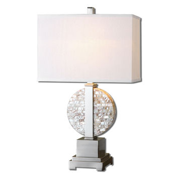 Uttermost Cavarno Pearl Mosaic Table Lamp - 26773-1
