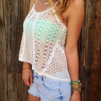 Sheer Crochet Lace Top - FINAL SALE