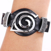 Naruto leather bracelets