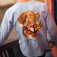 A Lab's Perfect Day In Maryland (Light Blue)  / Long Sleeve Shirt