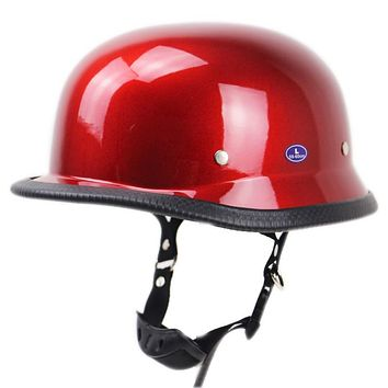 Acorn Style Glossy DOT Approved Motorcycle Half Helmet