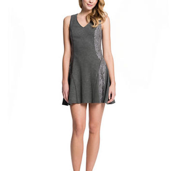 Cece By Cynthia Steffe Tess Mixed Media Godet Pleated Dress