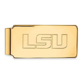 NCAA 14k Gold Plated Silver Louisiana State Money Clip