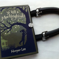 To Kill A Mockingbird Book Purse Midnight Black by NovelCreations