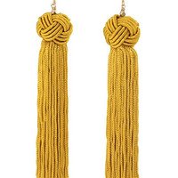 Vanessa Mooney<br> The Astrid Gold Tassel Earrings