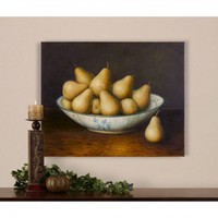 Uttermost Pears in Bowl Still Life Canvas Art by Matthew Williams - 32188