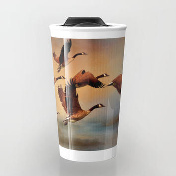 All Things Bright And Beautiful Travel Mug by Theresa Campbell D'August Art