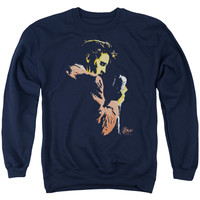 ELVIS/EARLY ELVIS - ADULT CREWNECK SWEATSHIRT - NAVY -