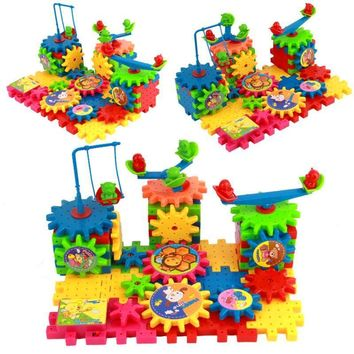 81-pcs Gear Building Construction Blocks Kits Educational Toy