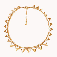 FOREVER 21 Triangle Fringe Necklace Gold One