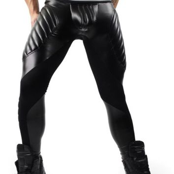 Men's workout tights, Black Meggings by Maskulo