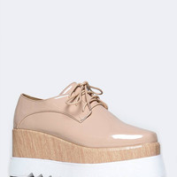 PLATFORM LACE UP OXFORD