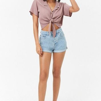 Boxy Tie-Front Shirt
