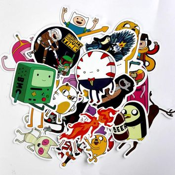 TD ZW 25Pcs Drama Adventure Time Stickers Decal For Snowboard Laptop Luggage Car Fridge DIY Styling Vinyl Home Decor Pegatina