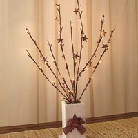 Lighted Country Branches in Vase