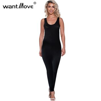 sexy women 2017 summer style backless sleeveless S-XL athletics skinny jumpsuits and rompers for women jumpsuits XD642