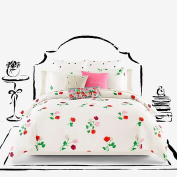 kate spade new york Willow Court Scattered Floral Twill Comforter Mini Set | Dillards