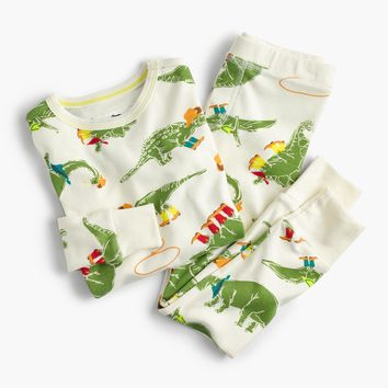Kids' pajama set in cowboy dinosaurs