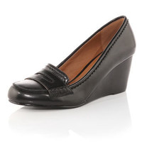 Black loafer wedge shoes - Shoes Sale  - Shoes  Boots  - Dorothy Perkins