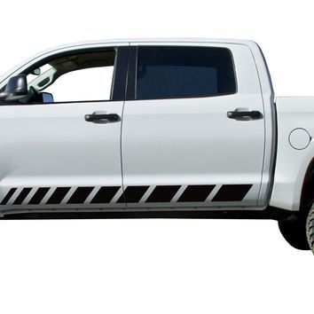 2 Strobe door stripes Decals Vinyl Stickers Set: fits 2014-2018 Toyota Tundra
