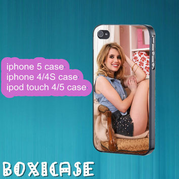 Emma Roberts--iphone 4 case,iphone 5 case,ipod touch 4 case,ipod touch 5 case,in plastic,silicone and black,white.