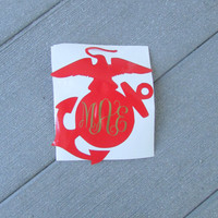 EGA Monogram Decal for Car, Notebook, Laptop, Water Bottle, Anything!