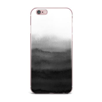 "Draper ""Ombre Ink Wash"" Gray Black iPhone Case"