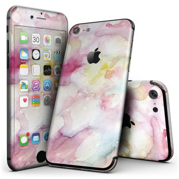 Light Pink 33 Absorbed Watercolor Texture - 4-Piece Skin Kit for the iPhone 7 or 7 Plus