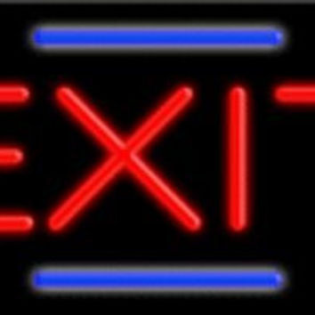 Exit Handcrafted Energy Efficient Glasstube Neon Signs