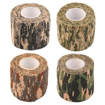 1 Roll Men Army Adhesive Camouflage Tape Stealth Wrap Outdoor Hunting free shipping