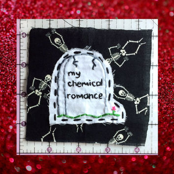 My Chemical Romance Patch, RIP Patch, Gravestone Patch