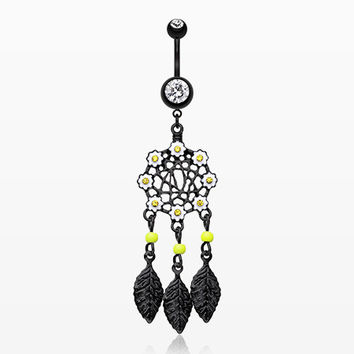 Colorline Daisy Glam Dreamcatcher Belly Button Ring